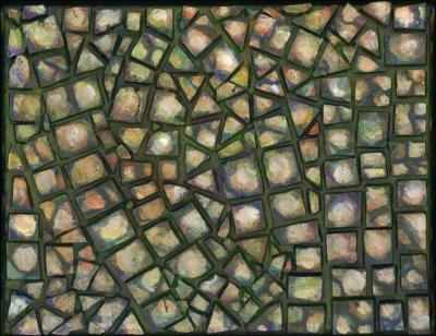 Pebbles, mosaic, 2 of 4