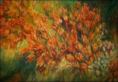 Milkweed - 22 x 30 oil pastels on watercolor paper - in progress