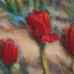 Dandelions Among the Tulips, detail image