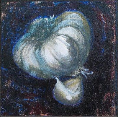 You Go Garlic! - 6 x 6 acrylics