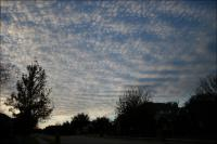 Mackerel Sky - cold front Dec 17, 2007