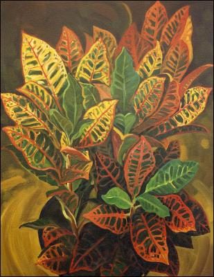 Croton, 1992 36H x 24W inches acrylics on canvas