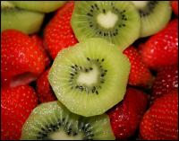Kiwi and strawberries - aproximately 75 photos in the Heart Shapes In Nature series