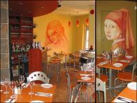 Restaurant murals by Karen Xarchos, Ottawa, Ontario, Canada