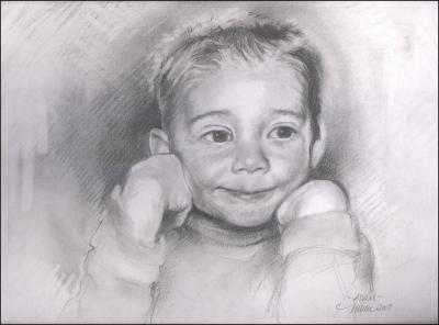 Adam - part of the Children series 11 x 14 graphite drawings on paper