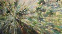 Sun Shower #4, 49 x 84 x 3 inches, Acrylics on wrapped canvas. About to undergo some noticable changes.