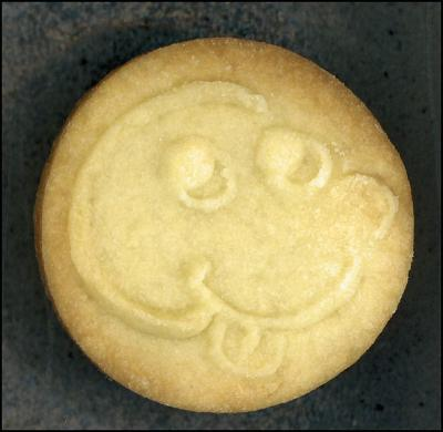 Cookie Monte, traditional Sugar Cookie recipe, stamp made from polymer clay