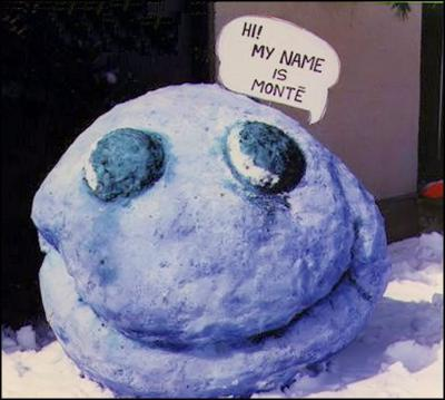 Monte snow sculpture, Winter 1989 Ottawa, Canada