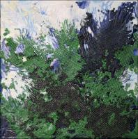 Conifer, 6H x 6W x 2D inches, Encaustic