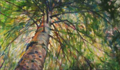 White Pine, 18 x 30 x 2 inches acrylics on canvas