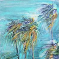 Chapala Winds - Mexico - 11H x 11W x 3D inches acrylics on canvas, wrapped sides painted