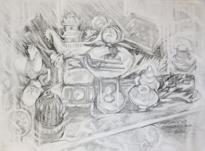 Treasures 03: Time, 9 x 12 inches graphite on paper