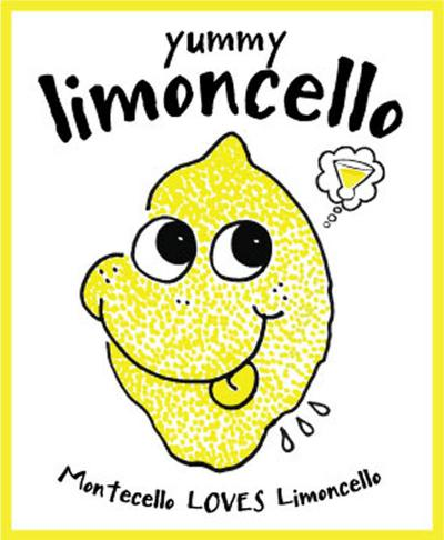 """Montecello"" on Limoncello label"