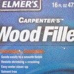 Wood filler costs about $6 US for 32 oz