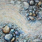 Zen Garden 02-03, a squished version of 02, 18L x 24W inches mixed media on canvas