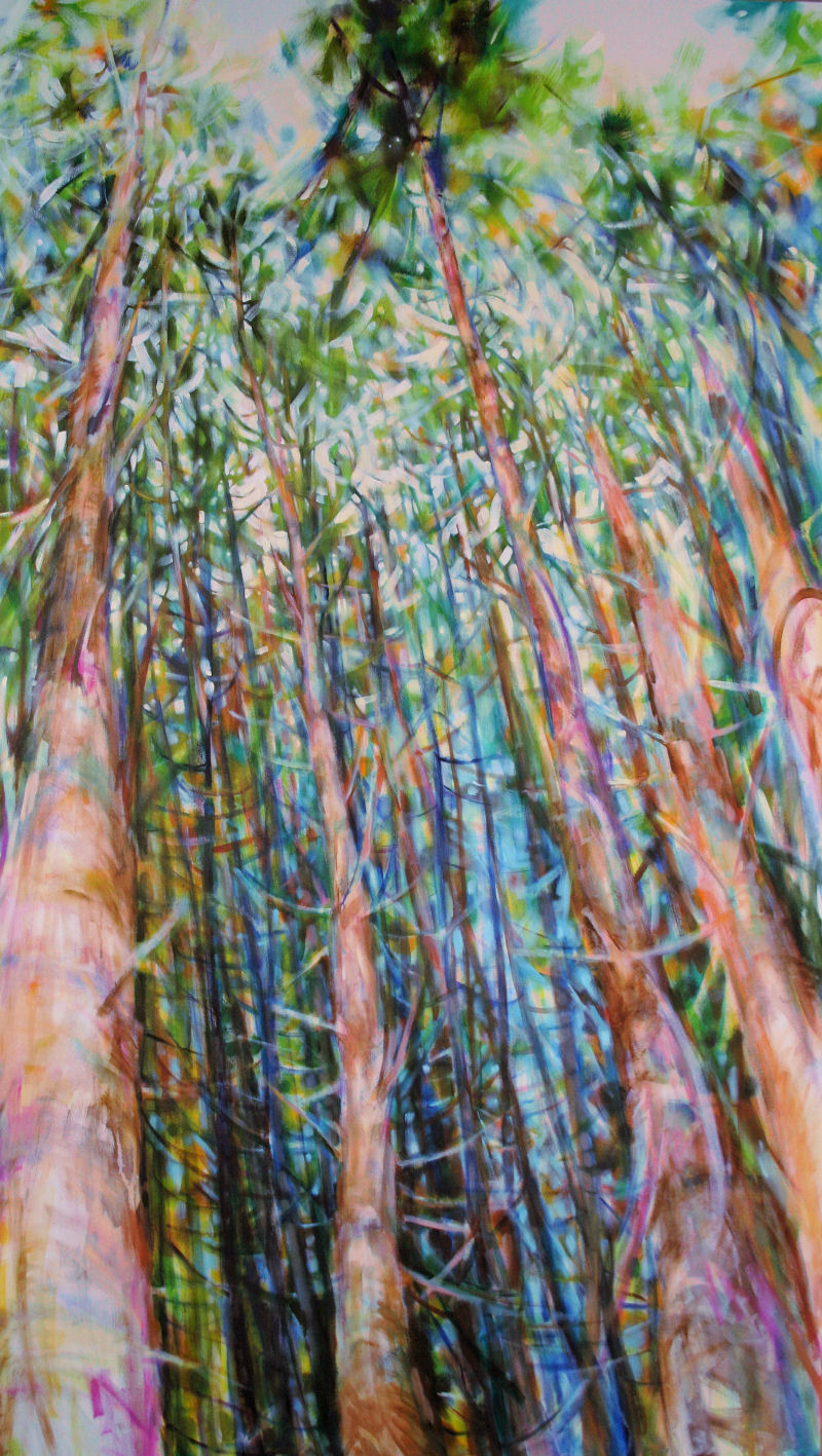Dancing With Trees 03, 85 x 45 x 3 acrylics on canvas