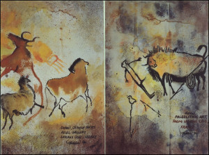 1990 Limited Edition Earthbags, 9 made only, Lascaux Caves, France