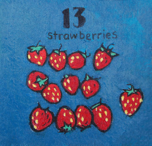 13 strawberries