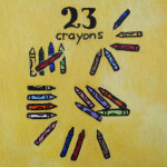 23 crayons