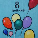 8 balloons