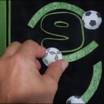 9 soccer balls move back and forth