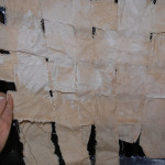 2) using diluted plaster, weave canvas strips