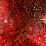 Chrysanthemums Chair, carving detail