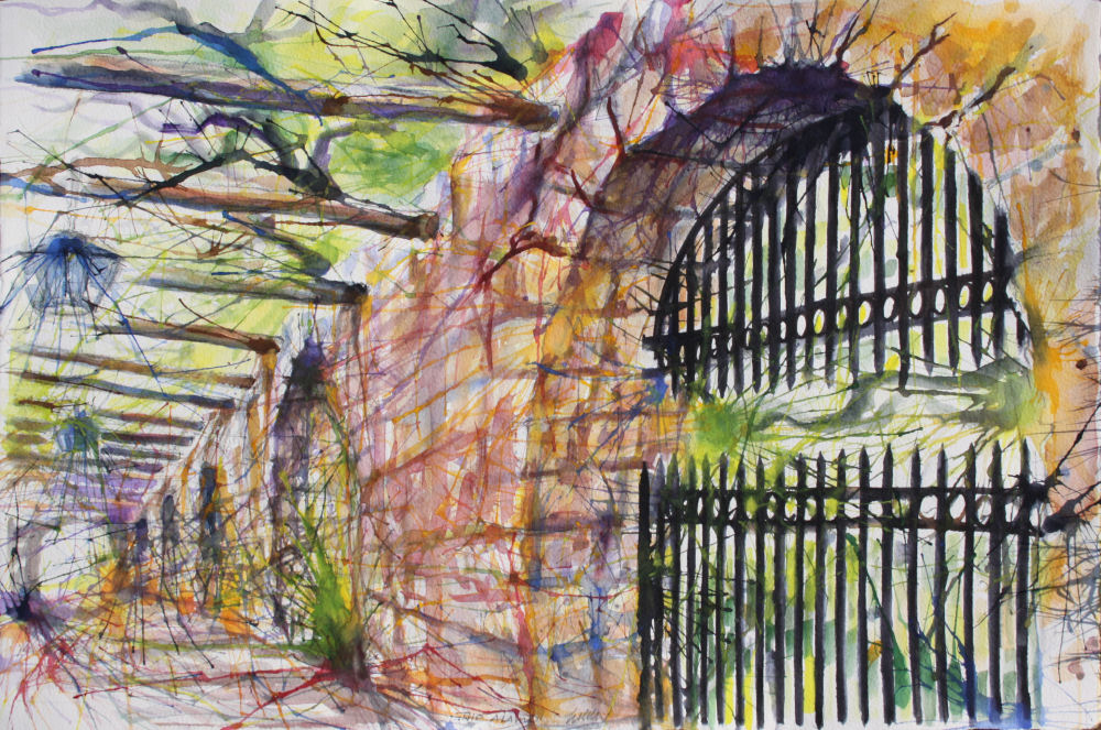 At the Alamo, San Antonio, Texas 15H x22W incheswatercolors on80 lb premium acid free paper