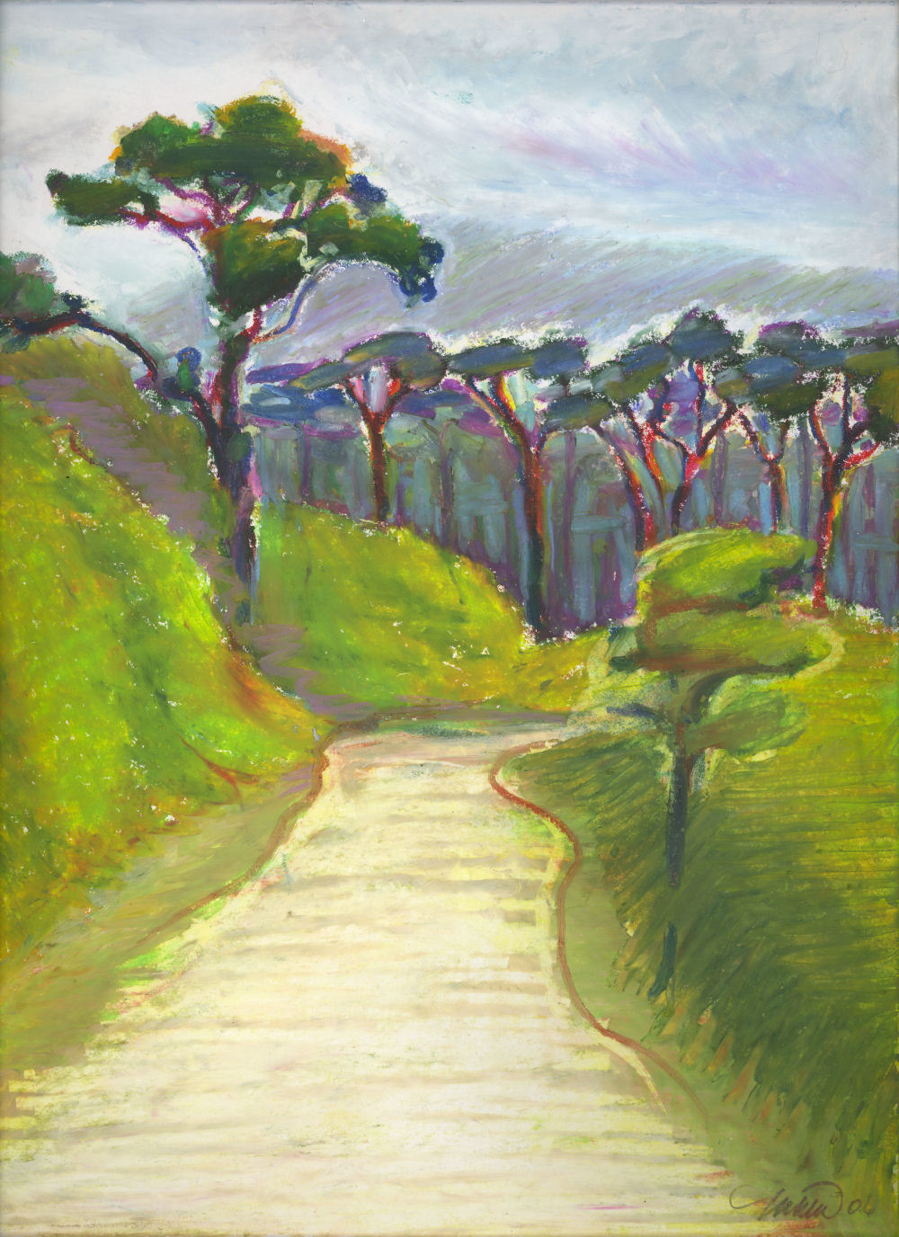 Lake Cote Forest Reserve, Costa Rica, 14 x 11 oil pastels on paper
