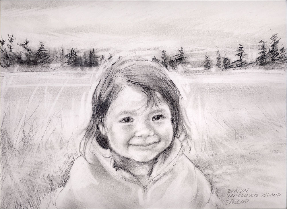 Evelyn, 11 x 14 inches graphite on paper