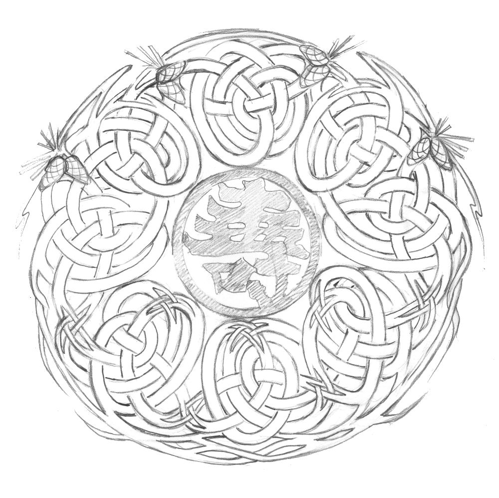 Finalized design sketch for The Tree of Life Chair
