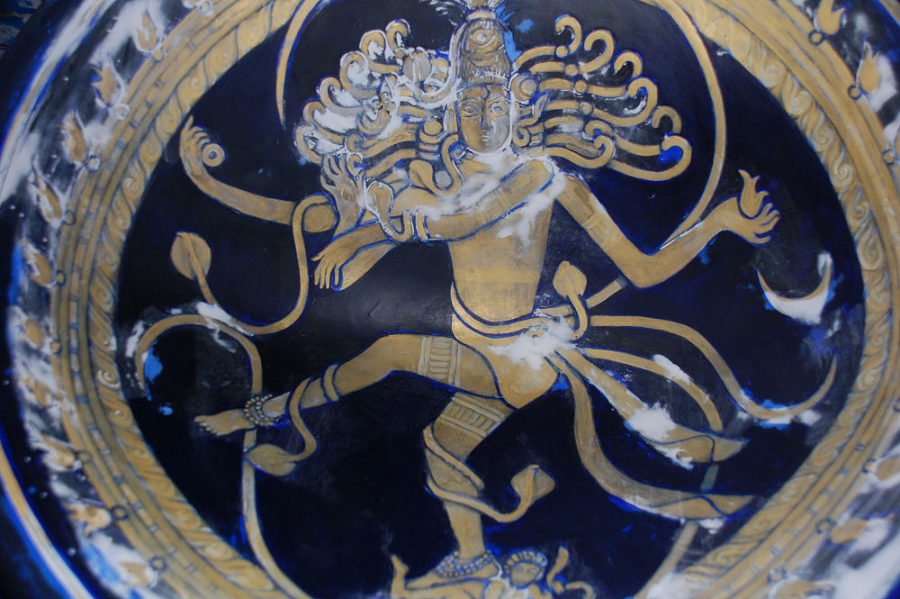 Shiva as Nataraj chair work in progress detail